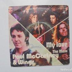 Dischi in vinile: DISCO SINGLE DE DOS CANCIONES DE PAUL MCCARTNEY ''MY LOVE'' DEL AÑO 1973. Lote 136214590