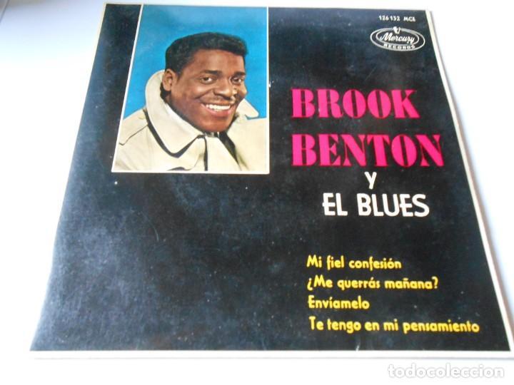 BROOK BENTON Y EL BLUES, EP, MI FIEL CONFESION + 3, AÑO 1963 (Música - Discos de Vinilo - EPs - Funk, Soul y Black Music)