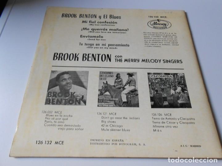 Discos de vinilo: BROOK BENTON y EL BLUES, EP, MI FIEL CONFESION + 3, AÑO 1963 - Foto 2 - 136217430