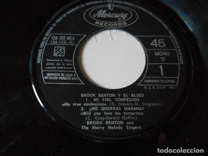 Discos de vinilo: BROOK BENTON y EL BLUES, EP, MI FIEL CONFESION + 3, AÑO 1963 - Foto 4 - 136217430