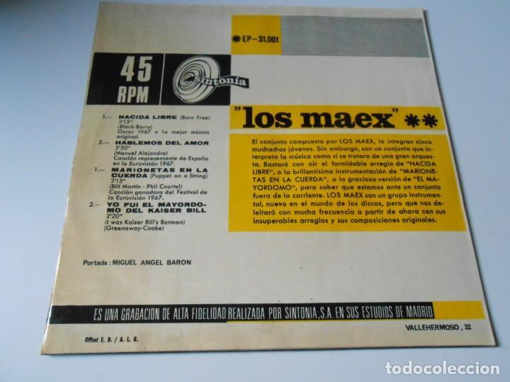 Discos de vinilo: MAEX, EP, MARIONETAS EN LA CUERDA + 3, AÑO 1967 - Foto 2 - 136226938