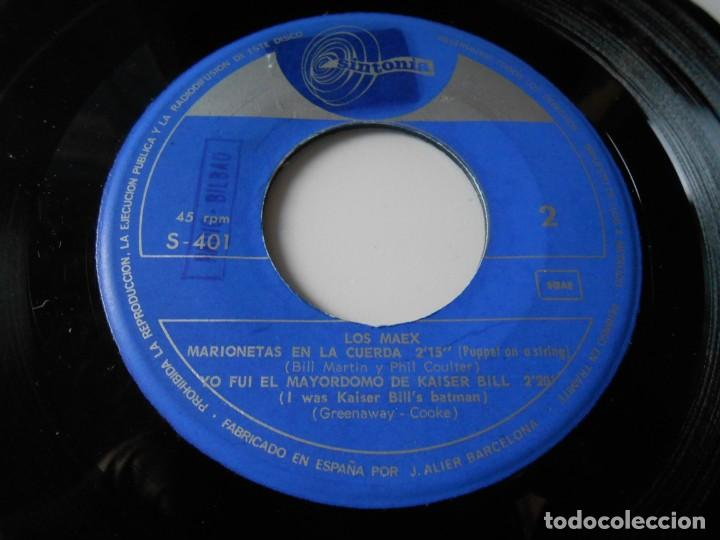Discos de vinilo: MAEX, EP, MARIONETAS EN LA CUERDA + 3, AÑO 1967 - Foto 4 - 136226938