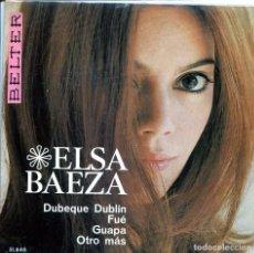 Discos de vinilo: ELSA BAEZA / DUBEQUE DUBLIN / FUE + 2 (EP 1967). Lote 145588140