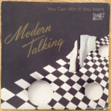 Discos de vinilo: MODERN TALKING YOU CAN WIN IF YOU WANT SINGLE PROMOCIONAL DISCO EXC. Lote 136252042