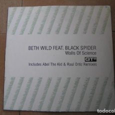 Discos de vinilo: THE CLUBBERS PRESENT BETH WILD FEAT. BLACK SPIDER ?– WALLS OF SCIENCE - GT² 2006 - MAXI - PLS. Lote 136253066
