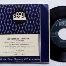 Discos de vinilo: ROSEMARY CLOONEY Y SU ORQUESTA. BACIAMI BAMBINO. EP REGAL SEML 34005. ESPAÑA. PERCY FAITH.. Lote 136266222