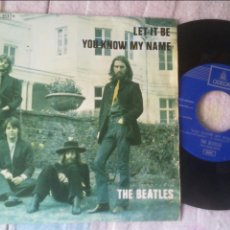 Discos de vinilo: THE BEATLES LET IT BE YOU KNOW MY NAME SINGLE VINILO EDICION ESPAÑOLA. Lote 136266325