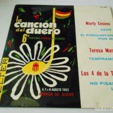 Disques de vinyle: FESTIVAL CANCION DEL DUERO 1965, EP TERESA MARIA - TEMPRANITO + 3, AÑO 1965. Lote 136269758