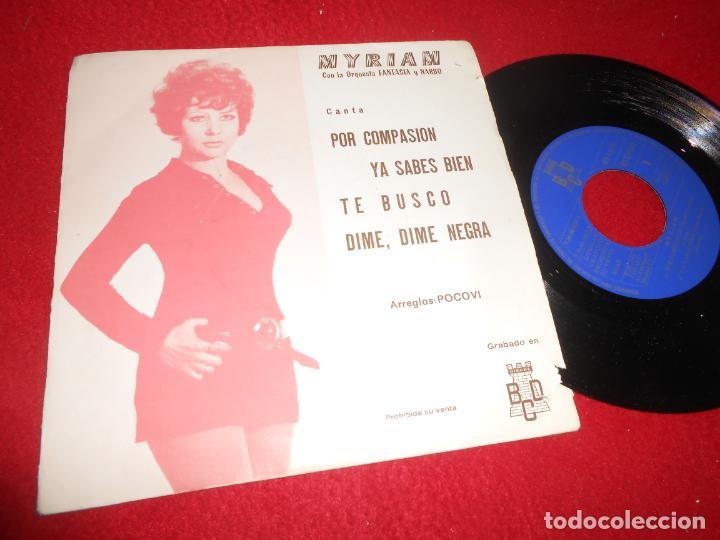 MYRIAM&FANTASIA NARBO POR COMPASION/TE BUSCO/YA SABES BIEN +1 EP 1971 BCD PROMO (Música - Discos de Vinilo - EPs - Solistas Españoles de los 70 a la actualidad)