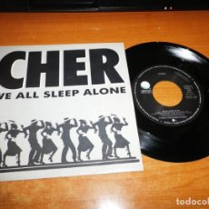 Discos de vinilo: CHER WE ALL SLEEP ALONE SINGLE VINILO PROMO DEL AÑO 1989 ESPAÑA MISMO TEMA PORTADA UNICA MUY RARO. Lote 136279250