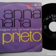 Discos de vinilo: ANNA MARIA. IL SEGRETO. SINGLE RCA VICTOR PM45 3045. ITALY 1961. A TE. . Lote 136282338