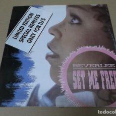 Discos de vinilo: BEVERLEE (MX) SET ME FREE +2 TRACKS AÑO 1991. Lote 136291706