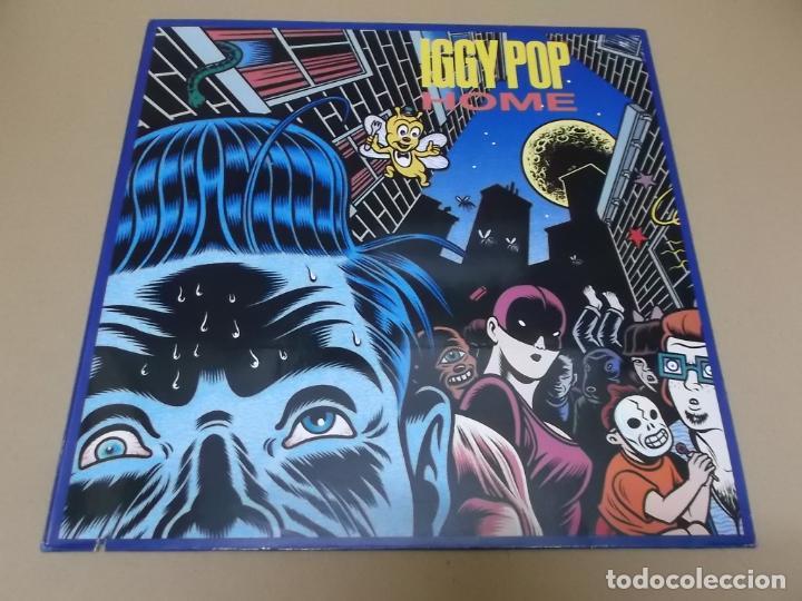 IGGY POP (MX) HOME +3 TRACKS AÑO 1990 – EDICION ALEMANIA (Música - Discos de Vinilo - Maxi Singles - Pop - Rock Extranjero de los 90 a la actualidad)