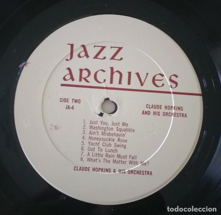 Discos de vinilo: Claude Hopkins – Previously Unissued Sides (1932 -1933) Rare Sides (1940). EDICION US - Foto 4 - 136307518