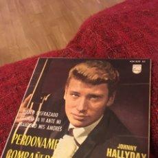 Discos de vinilo: JOHNNY HALLYDAY PERDÓNAME COMPAÑERO DIABLO DISFRAZADO. Lote 136320094