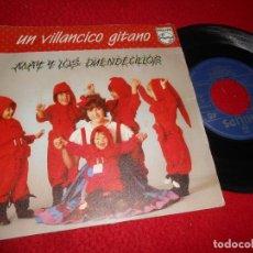 Discos de vinilo: MAY Y LOS DUENDECILLOS UN VILLANCICO GITANO/LA BOTA 7 SINGLE 1983 PHILIPS MARIO SELLES SPAIN. Lote 136348426