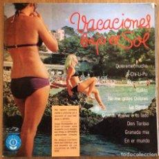Discos de vinilo: VACACIONES BAJO EL SOL GALEAS Y SUS RUMBEROS LP CON POSTER TOROS EXC. Lote 136354650