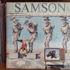 Discos de vinilo: SAMSON SHOCK TACTICS VINILO BLANCO EDICION 2017 PRECINTADO. Lote 136355493