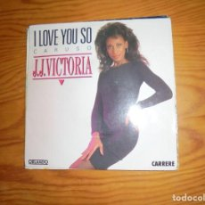 Discos de vinilo: J.J. VICTORIA. I LOVE YOU SO (CARUSO) / STOP ME IF YOU CAN. ORLANDO, 1990. IMPECABLE. Lote 136355562
