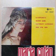 Discos de vinilo: MARÍA COFAN Y CONJUNTO DE FERNANDO ORTEU- LA ESPUMITA +3- EP SAEF 1962. Lote 136363946