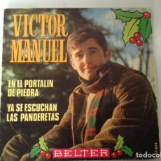 Discos de vinilo: SINGLE VICTOR MANUEL VILLANCICOS. Lote 136367666
