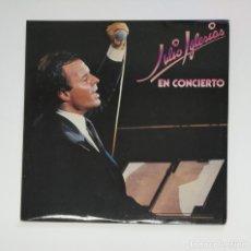 Discos de vinilo: JULIO IGLESIAS. - JULIO IGLESIAS EN CONCIERTO. DOBLE LP. TDKLP. Lote 136372902