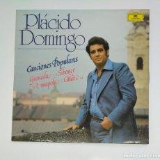 Discos de vinilo: PLACIDO DOMINGO. - CANCIONES POPULARES. - LP. TDKDA45. Lote 136373246