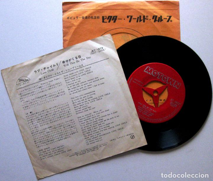Discos de vinilo: Diana Ross And The Supremes - Love Child - Single Motown 1968 Japan (Edición Japonesa) BPY - Foto 2 - 136376702