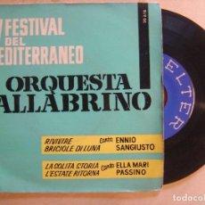 Discos de vinilo: ORQUESTA FALLABRINO CON ENNIO SANGIUSTO Y ELLA MARI PASSINO - EP 1962 - BELTER. Lote 136377406