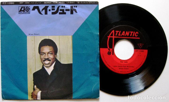 WILSON PICKETT - HEY JUDE / SEARCH YOUR HEART - SINGLE ATLANTIC 1969 JAPAN (EDICIÓN JAPONESA) BPY (Música - Discos - Singles Vinilo - Funk, Soul y Black Music)