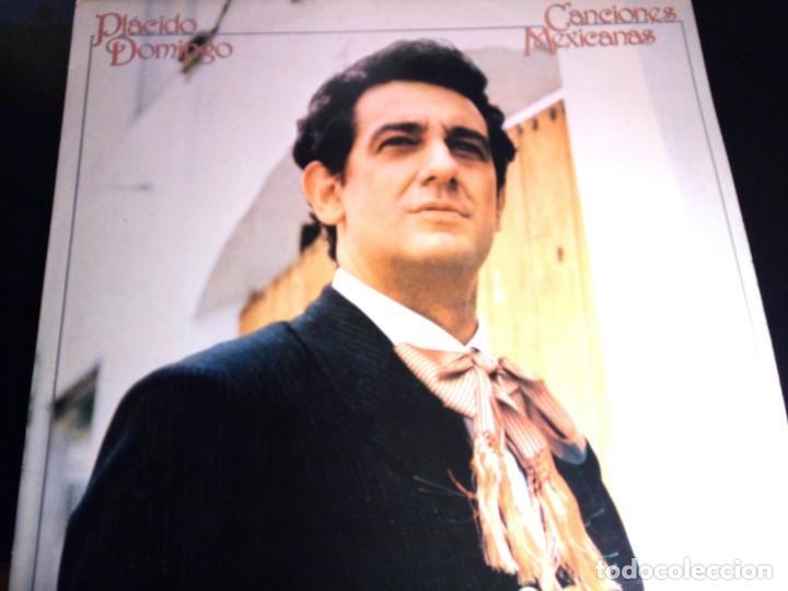 Discos de vinilo: PLACIDO DOMINGO - CANCIONES MEXICANAS / LP / CBS / 1982 / BUEN ESTADO - Foto 2 - 136384402
