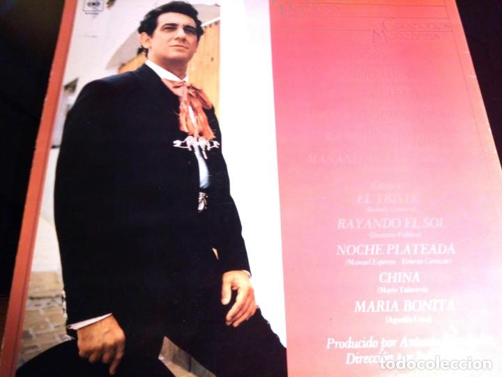 Discos de vinilo: PLACIDO DOMINGO - CANCIONES MEXICANAS / LP / CBS / 1982 / BUEN ESTADO - Foto 3 - 136384402
