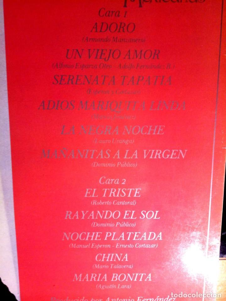Discos de vinilo: PLACIDO DOMINGO - CANCIONES MEXICANAS / LP / CBS / 1982 / BUEN ESTADO - Foto 4 - 136384402