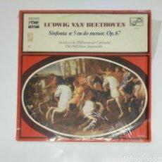Discos de vinilo: COLECCION RTVE EL MUNDO DE LA MUSICA. Nº 8. BEETHOVEN. SINFONIA Nº 5 EN DO MENOR OP. 67. TDKDA45. Lote 136389486