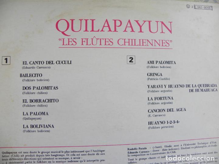 Discos de vinilo: LES FLAUTES CHILIENNES DE QUILAPAYUN -LP -BUEN ESTADO - Foto 2 - 136397562