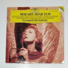 Discos de vinilo: MOZART REQUIEM. LEONARD BERNSTEIN. DEUTSCHE GRAMMOPHON. LP. TDKDA45. Lote 136398022