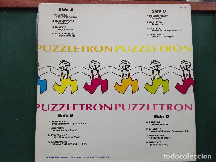 Discos de vinilo: PUZZLETRON 2 . DOBLE LP.EDICION ESPAÑA 1994.REF BOY- LP035. VINILOS MUY BUEN ESTADO - Foto 2 - 136406882