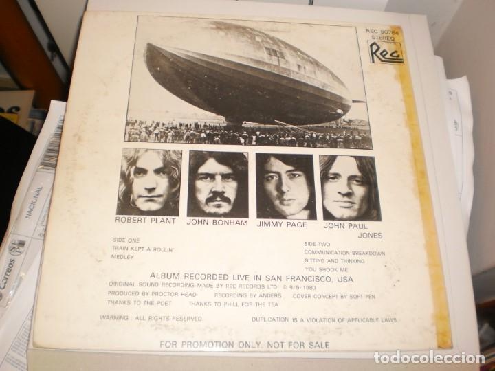 Discos de vinilo: lp led zeppelin. metallic opus. rec records 1980 USA (LABEL BLANCO, PROMOCIÓN, BUEN ESTADO LEER) - Foto 2 - 136418282