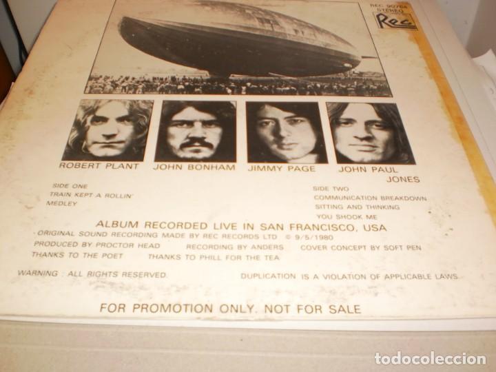 Discos de vinilo: lp led zeppelin. metallic opus. rec records 1980 USA (LABEL BLANCO, PROMOCIÓN, BUEN ESTADO LEER) - Foto 3 - 136418282