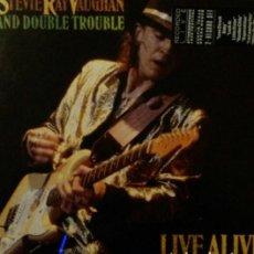Disques de vinyle: .STEVIE RAY VAUGHAN.LIVE ALIVE.2LP.. Lote 136425818