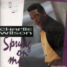 Discos de vinilo: CHARLIE WILSON - SPRUNG ON ME / LP MAXISINGLE MCA DE 1992 RF-6442. Lote 136439982