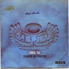 Discos de vinilo: GABRIEL (FRANK BELVER) / ERES TU / TIEMPO DE PARTIR (SINGLE PROMO 1976). Lote 136445122