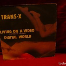 Discos de vinilo: TRANS - X LIVING ON A VIDEO / DIGITAL WORLD, POLYDOR 1983. Lote 136456310