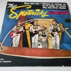 Discos de vinilo: SPOTNICKS, THE, EP, WHAT DID I SAY ? + 3, AÑO 1963. Lote 136457294