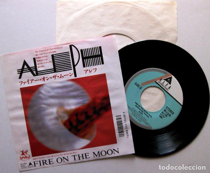 Aleph - Fire On The Moon - Single Alfa International 1987 Japan (Edición  Japonesa) Italo-Disco BPY