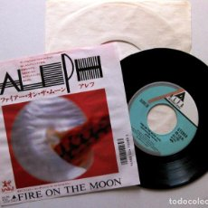 Discos de vinilo: ALEPH - FIRE ON THE MOON - SINGLE ALFA INTERNATIONAL 1987 JAPAN (EDICIÓN JAPONESA) ITALO-DISCO BPY. Lote 136459730