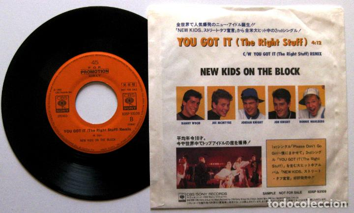 Discos de vinilo: New Kids On The Block - You Got It - Single CBS/Sony 1988 Japan PROMO (Edición Japonesa) BPY - Foto 2 - 136460994