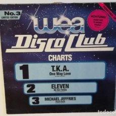 Discos de vinilo: VARIOUS - WEA DISCO CLUB NO.3 - 1986 - LP. Lote 136471218