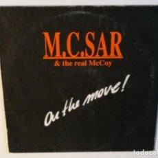 Discos de vinilo: M.C. SAR & THE REAL MCCOY - ON THE MOVE! - LP - 1990. Lote 136472838