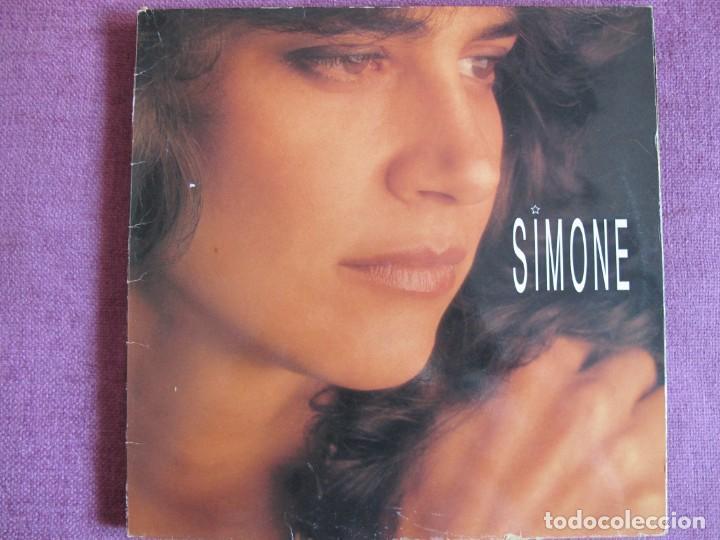 LP - SIMONE - SIMONE (SPAIN, CBS/SONY 1991) (Música - Discos - LP Vinilo - Solistas Españoles de los 70 a la actualidad)